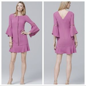 NWOT WHBM BELL-SLEEVE SHIFT DRESS